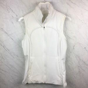 Lululemon White Run For Cold Vest, Size 6